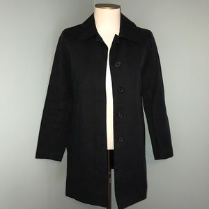 Coach Black Button Front Casual Jacket
